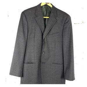 Calvin Klein Wool Sport Coat Charcoal Gray 40R